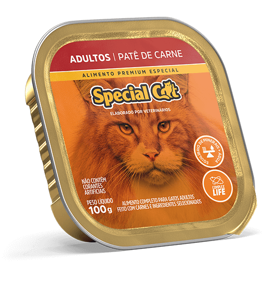 PATÊ SPECIAL CAT ADULTOS SABOR CARNE