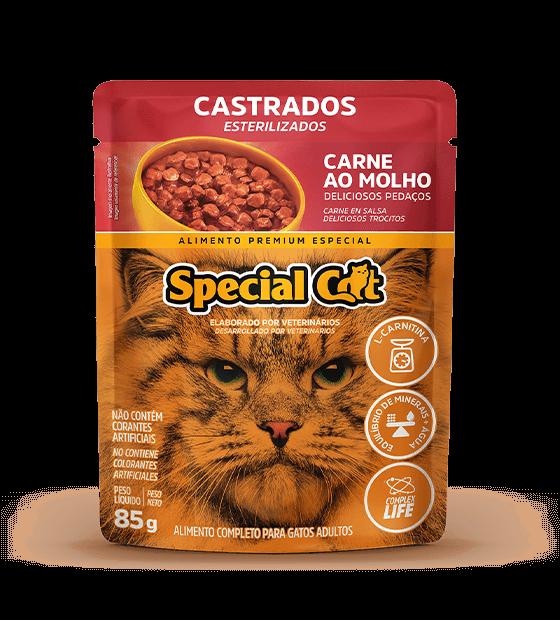 SACHÊ SPECIAL CAT CASTRADOS SABOR CARNE