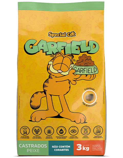 SPECIAL CAT GARFIELD CASTRADOS PEIXE