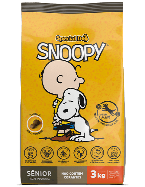 SPECIAL DOG SNOOPY SÊNIOR RAÇAS PEQUENAS